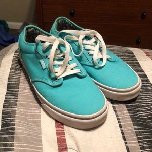 Teal Vans size 8 great condition